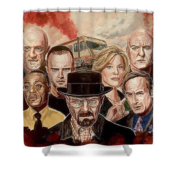 Breaking Bad Family Portrait Shower Curtain