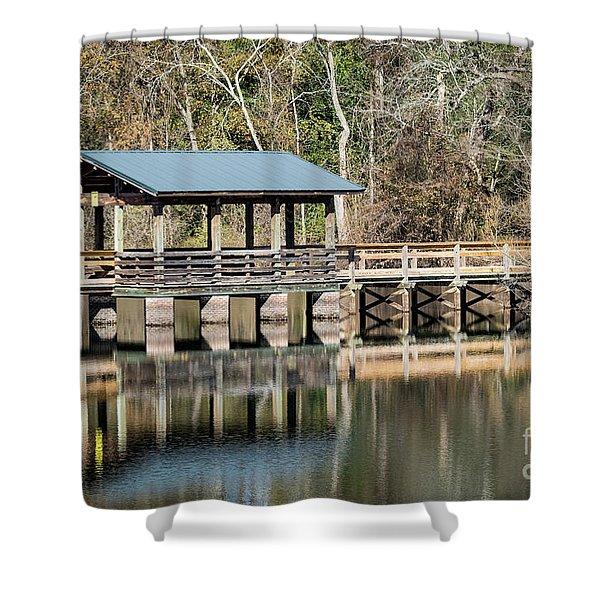 Brick Pond Park - North Augusta Sc Shower Curtain