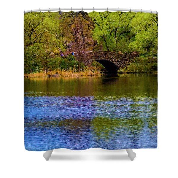 Bridge In Central Park Shower Curtain