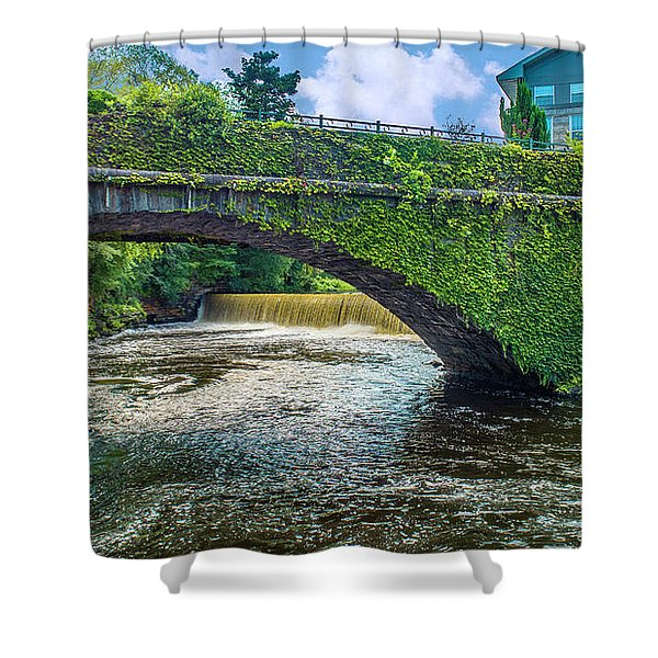 Bridge Of Flowers Shower Curtain