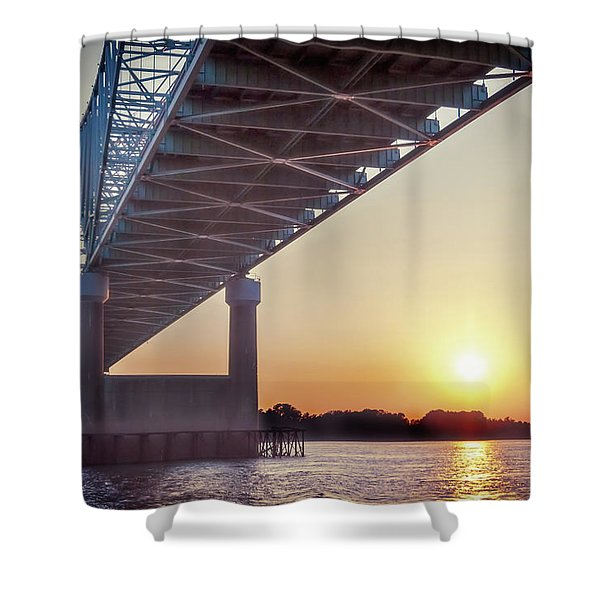 Bridge Over Mississippi River Shower Curtain
