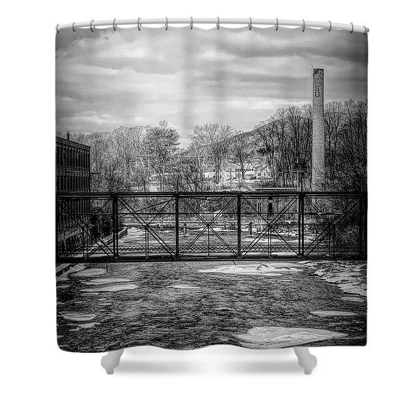 Bridge Over The Sugar River Shower Curtain