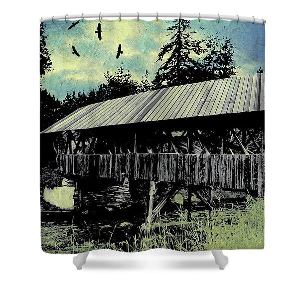 Bridge V Shower Curtain
