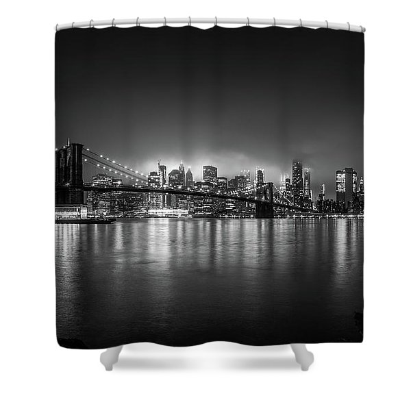 Bright Lights Of New York Shower Curtain