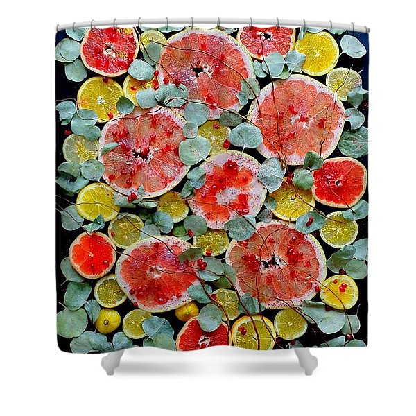 Brighter Days Citrus Shower Curtain