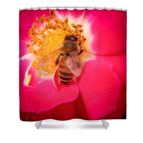 Brilliant Bee Shower Curtain