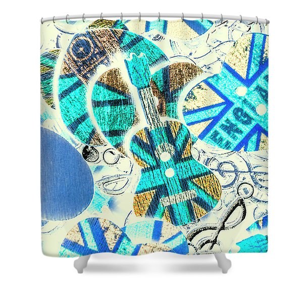 Britain Blues Shower Curtain