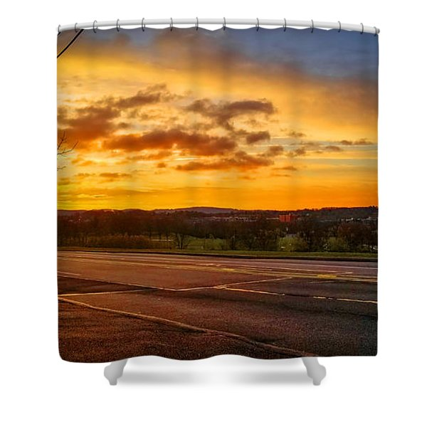 Broadway Sunrise Shower Curtain
