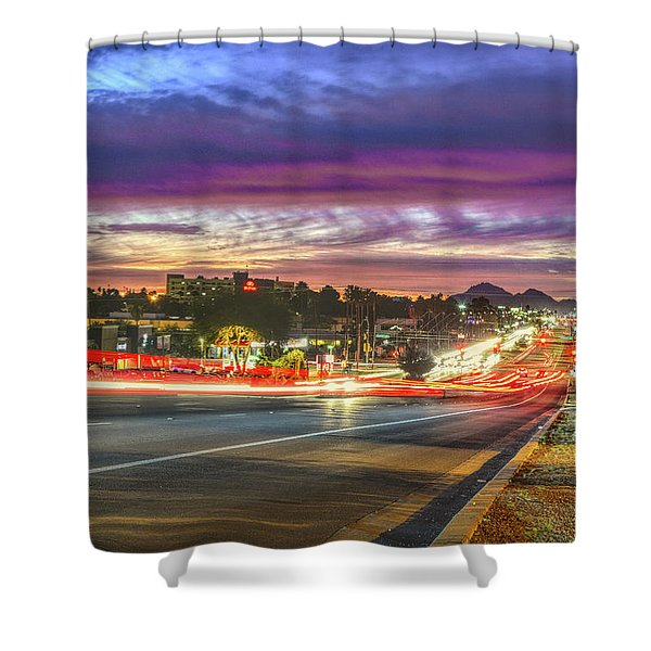 Broadway Sunset, Tucson, Az Shower Curtain