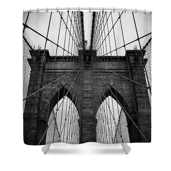 Brooklyn Bridge Wall Art Shower Curtain