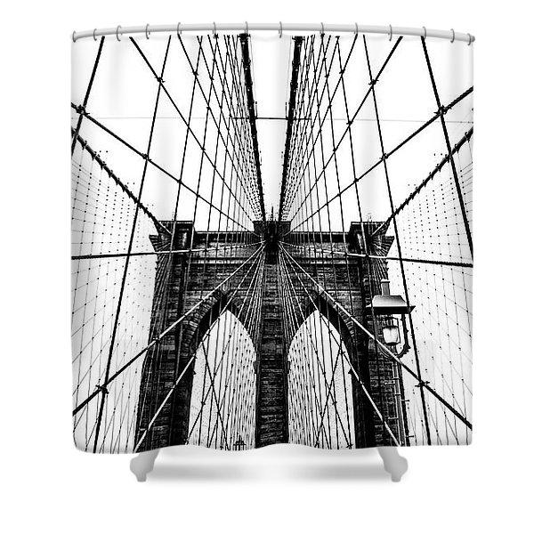 Brooklyn Bridge Web Shower Curtain