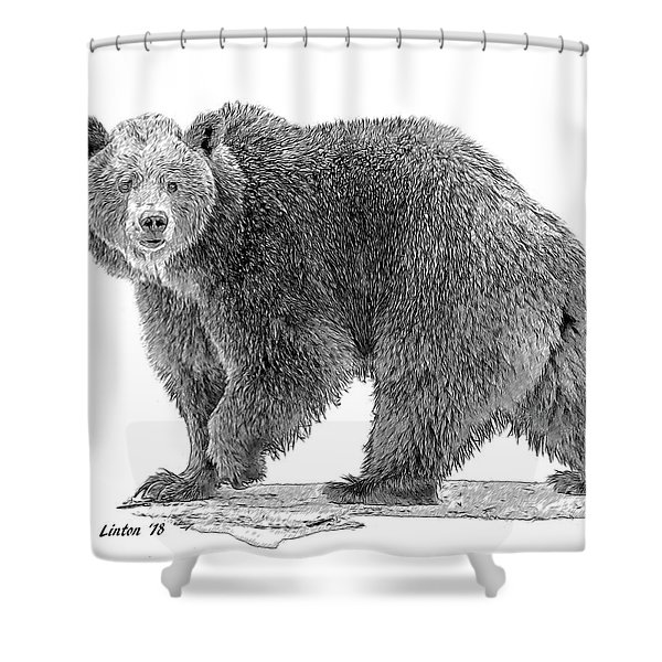 Brown Black And White Shower Curtain