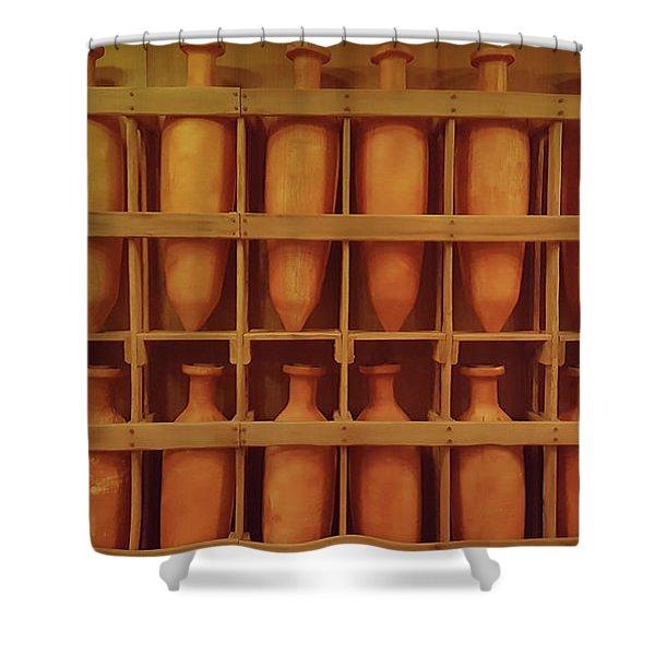 Brown Pots Shower Curtain