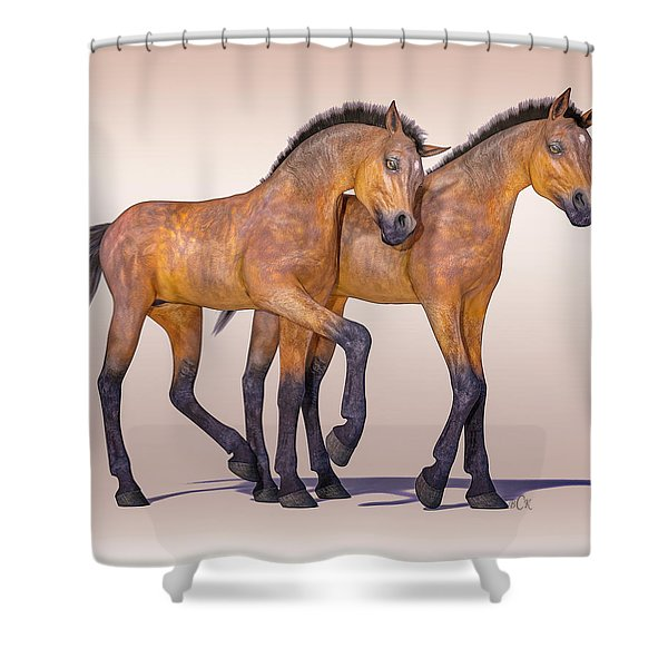 Buddies For Life Shower Curtain