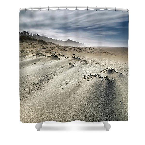 Bumpy Beach Shower Curtain