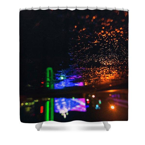 Burning Banner Shower Curtain