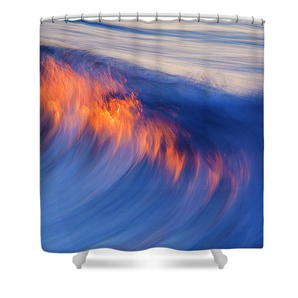 Burning Wave Shower Curtain