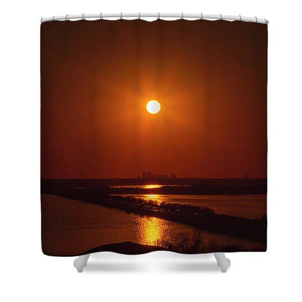 Burnt Orange Shower Curtain