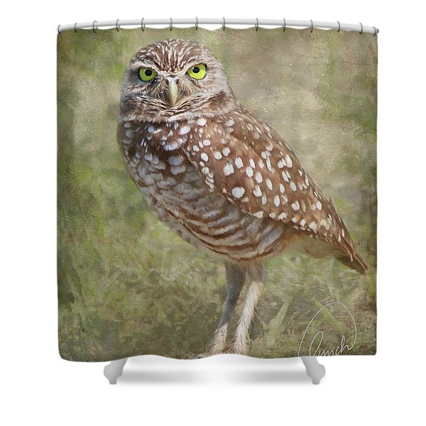Burrowing Owl Shower Curtain