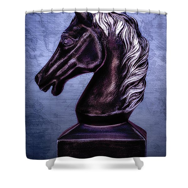 Bust Of The Black Knight Shower Curtain