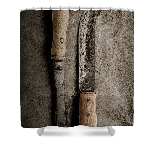 Butcher Knives Shower Curtain