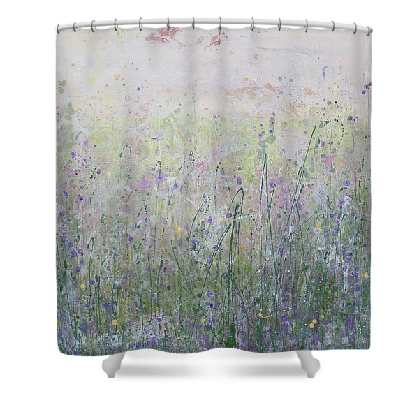 Buttercups And Bluebells Shower Curtain