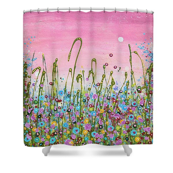 Buttercups And Lilacs Shower Curtain