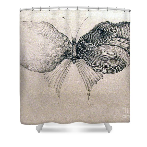 Butterfly For Jeffrey Shower Curtain