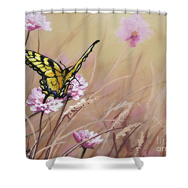 Butterfly Meadow - Part 1 Shower Curtain