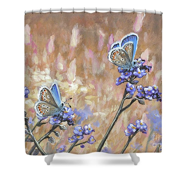 Butterfly Meadow - Part 3 Shower Curtain