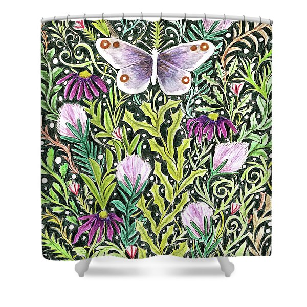 Butterfly Tapestry Design Shower Curtain
