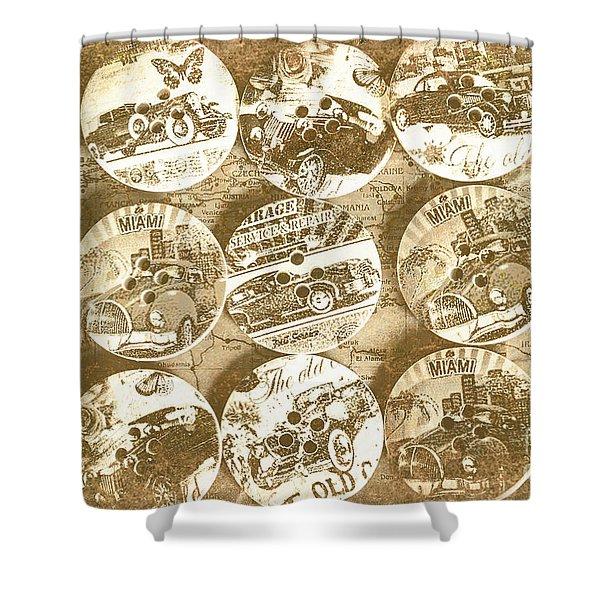 Button Roadhouse Shower Curtain