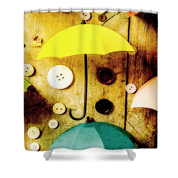 Button Storm Shower Curtain