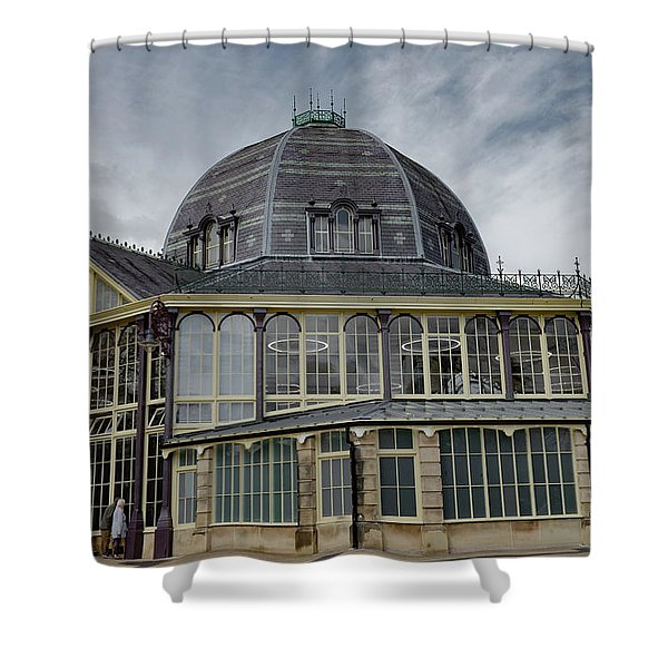Shower Curtain featuring the photograph Buxton Octagon Hall At The Pavilion Gardens by Scott Lyons