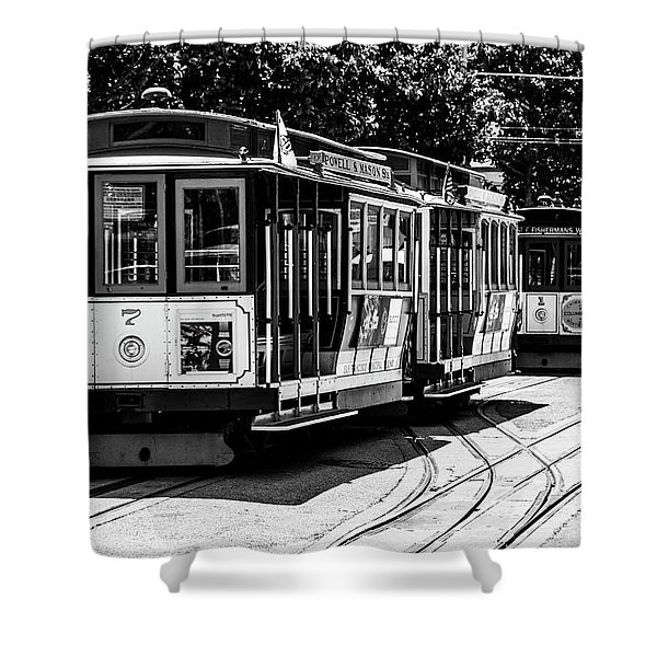 Cable Cars Shower Curtain