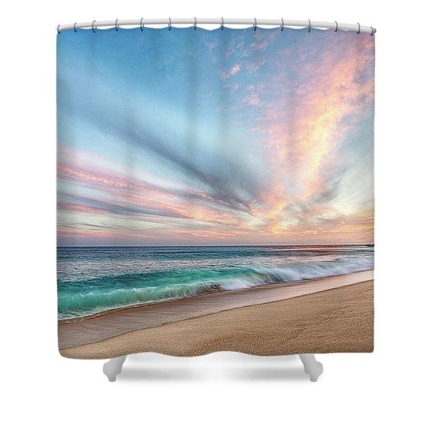 Cabo San Lucas Beach Wave Sunset Shower Curtain