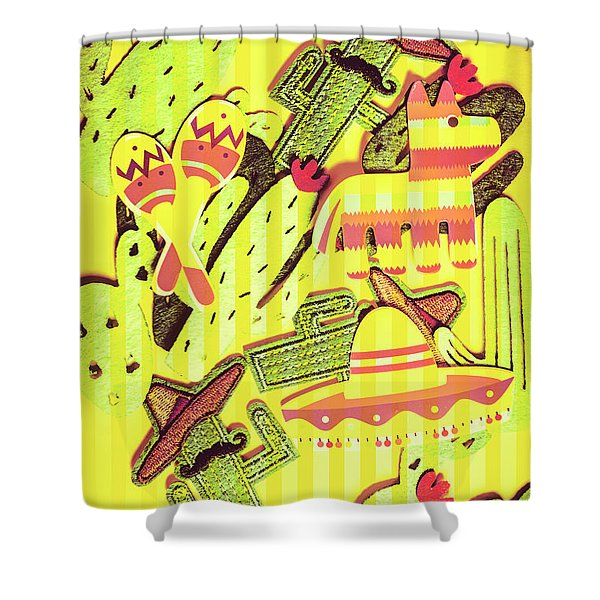 Cactus Carnival Shower Curtain