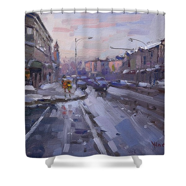 Caffe Aroma At Elmwood Ave  Shower Curtain