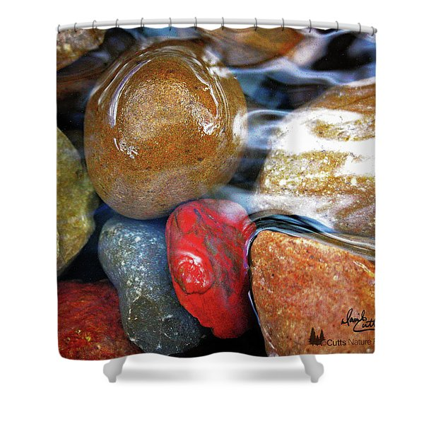 Calming Stones Shower Curtain