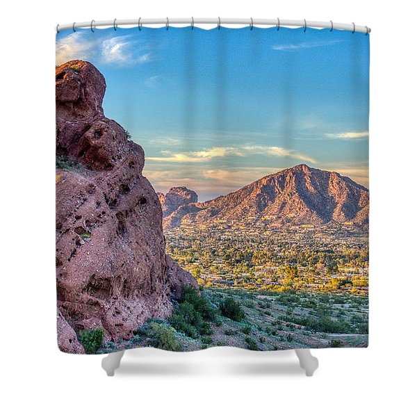 Camelback Mountain  Shower Curtain