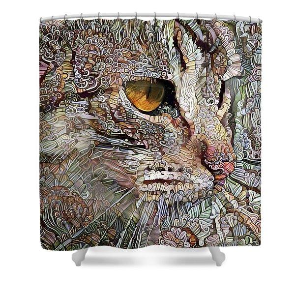 Camo Cat Shower Curtain