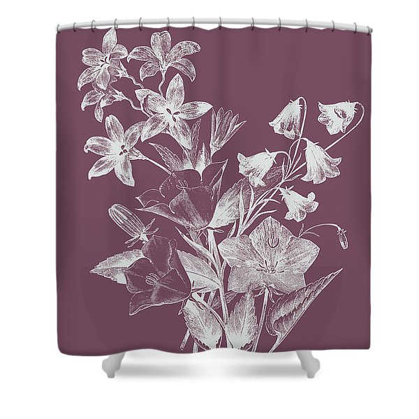 Campanulas Purple Flower Shower Curtain