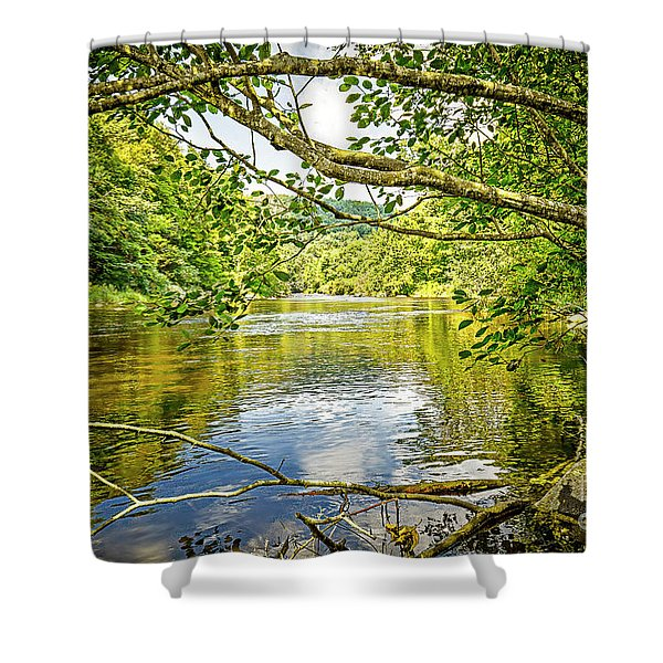 Canal Pool Shower Curtain