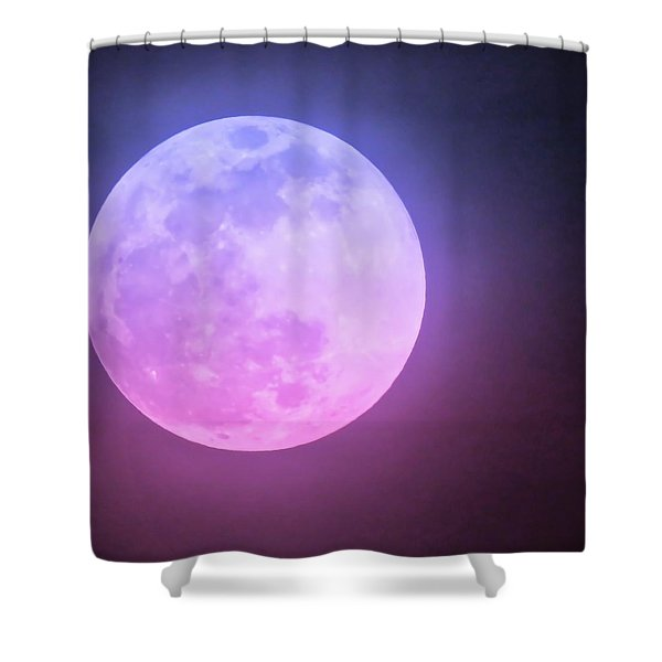 Cancer Super Wolf Blood Moon Near Eclipse Shower Curtain