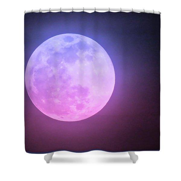 Cancer Super Wolf Blood Moon Near Eclipse Shower Curtain