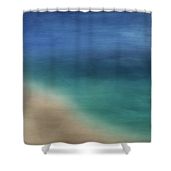 Cancun Coast- Art By Linda Woods Shower Curtain
