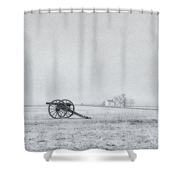 Cannon Out In The Field Shower Curtain