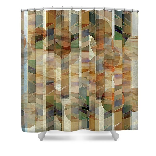 Canyon Circles And Stripes Shower Curtain