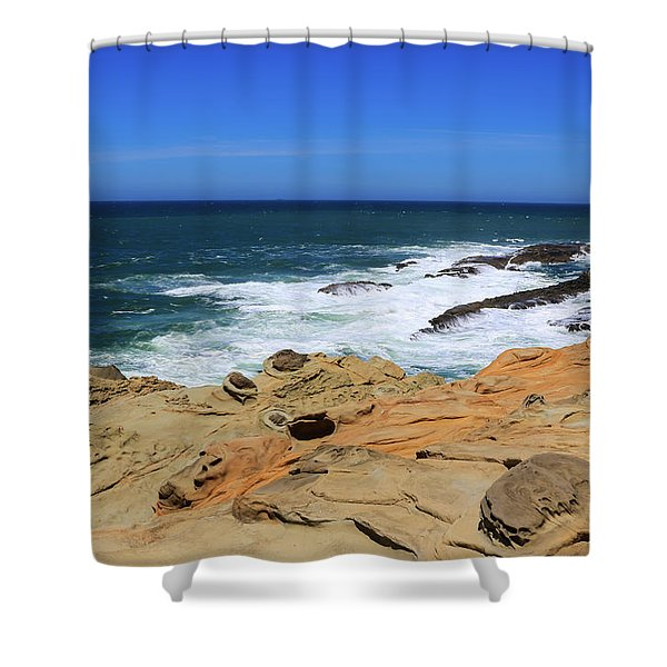 Shower Curtain featuring the photograph Cape Arago Coast 6 by Dawn Richards