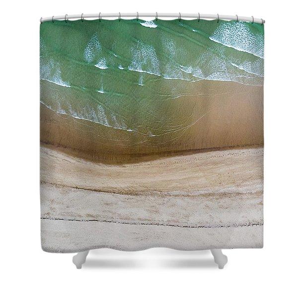 Cape Cod Beach Abstract Shower Curtain